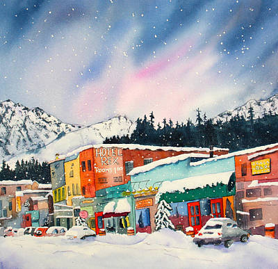 Snowstorm In Truckee Poster by Eva Nichols