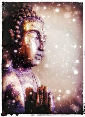Snowy Buddha Poster