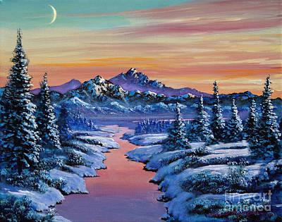 Snowy Creek Poster by David Lloyd Glover