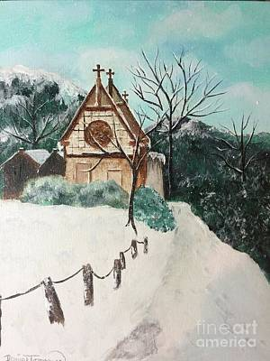 Poster featuring the painting Snowy Daze by Denise Tomasura