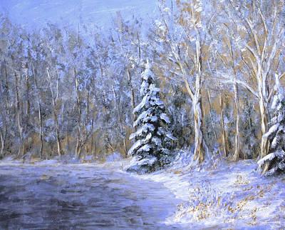 Snowy Frozen Pond  Poster by Matthew Hannum