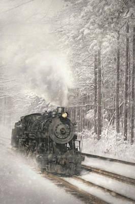 Snowy Locomotive Poster by Lori Deiter