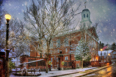 Snowy New England Morning In Peterborough New Hampshire Poster by Joann Vitali