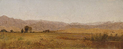 Snowy Range And Foothills From The Valley Of Valmo Poster by John Frederick Kensett