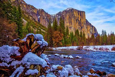Snowy Yosemite Poster