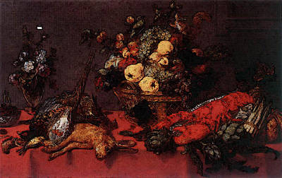 Snyders Frans Still Life With A Basket Of Fruit Poster by Frans Snyders