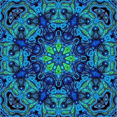 So Blue - 04v2 - Mandala Poster by Aimelle