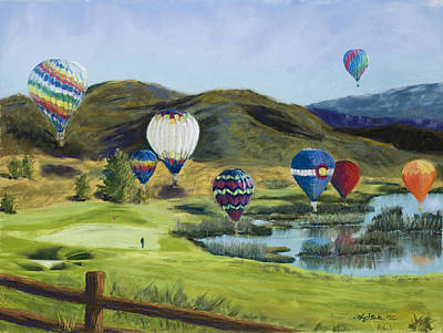 Soaring Over Colorado Poster by Mary Benke