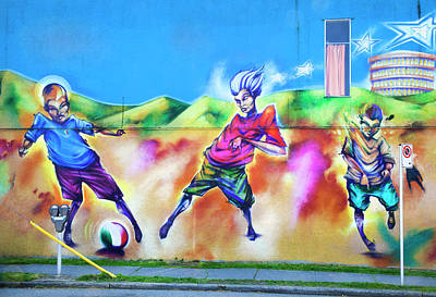 Poster featuring the photograph Soccer Graffiti by Theresa Tahara