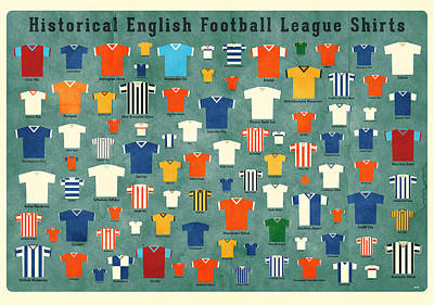 Soccer Shirts Poster by Daviz Industries