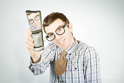 Social Networking Nerd Taking Self Portrait Poster by Jorgo Photography - Wall Art Gallery