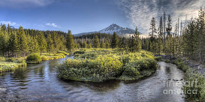 Soda Creek Winding To Broken Top Poster by Twenty Two North Photography