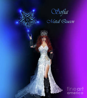 Sofia Metal Queen. Lights And Pentagram Poster