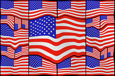 Soft American Flags 3 Poster by Mike McGlothlen