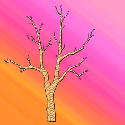 Soft Pastel Tree Abstract Poster