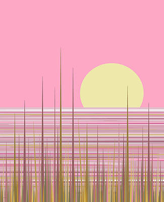 Soft Pink Sky Poster by Val Arie