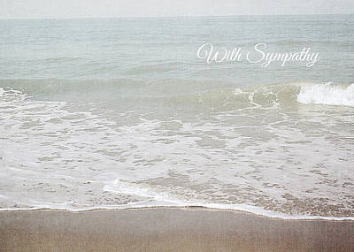 Poster featuring the mixed media Soft Waves Sympathy Card- Art By Linda Woods by Linda Woods