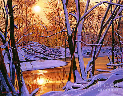 Soft Winter Light Poster by David Lloyd Glover