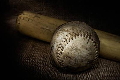 Softball And Bat Poster