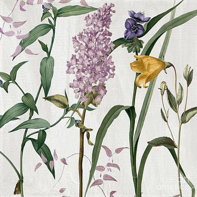 Softly Lilacs And Crocus Poster