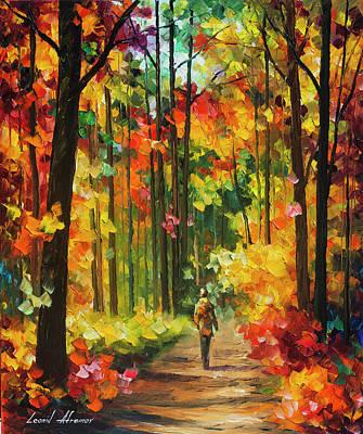 Soild Fall  Poster by Leonid Afremov