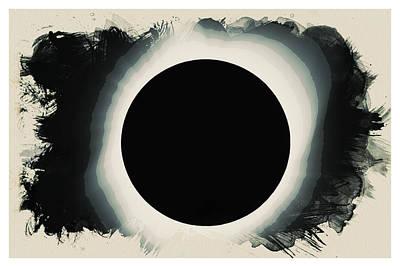 Solar Eclipse 2017 Watercolor Poster