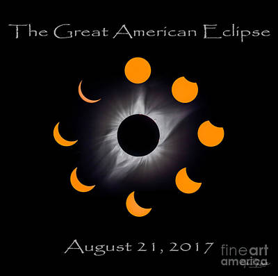 Solar Eclipse Stages Poster