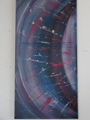 Poster featuring the painting Solar Flare #1 by Sharyn Winters