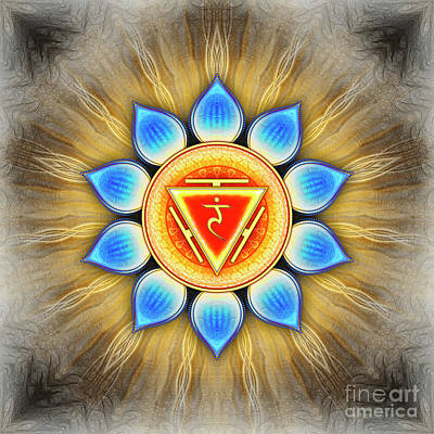 Solar Plexus Chakra - Series 4 Poster by Dirk Czarnota