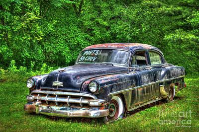 Sold For Parts 1954 Chevrolet 210 4 Door Sedan Art Poster by Reid Callaway