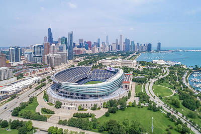 Poster featuring the photograph Soldier Field by Sebastian Musial