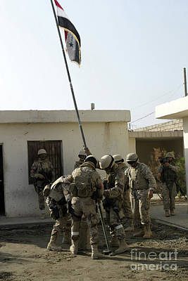 Soldiers From The Iraqi Special Forces Poster