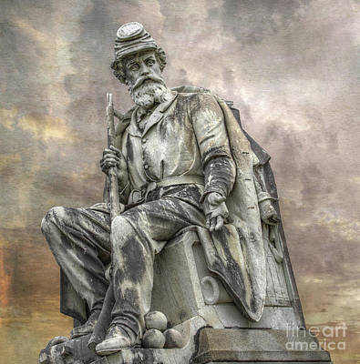 Soldiers National Monument War Statue Gettysburg Cemetery  Poster by Randy Steele