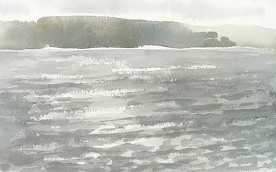 Soldis Over Glittrande Fjord - Sunlit Haze Over Glittering Water_0023 76x48cm Poster