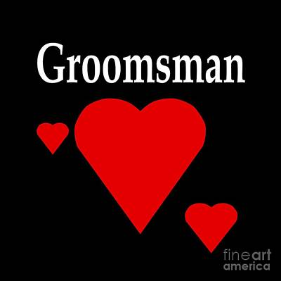 Solid Hearts Groomsman Poster by Frederick Holiday