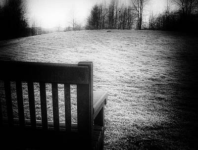Solitary Bench In Winter Poster
