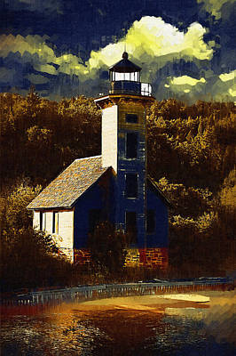 Solitary Lighthouse Poster