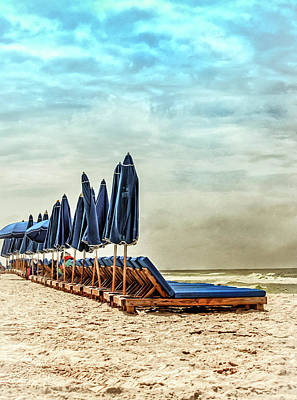Solitude At The Beach  Poster by Debra Forand