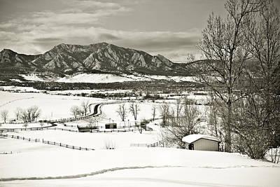 Solitude In Boulder County Poster