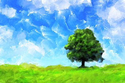 Solitude - Lone Tree Landscape Poster by Mark Tisdale