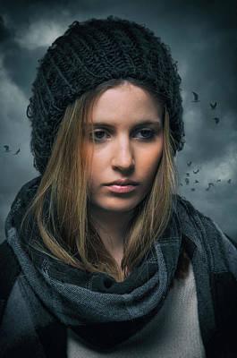Somber Girl Poster