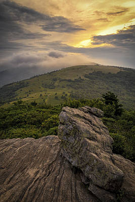 Rocky Sunset - Roan Mountain Poster