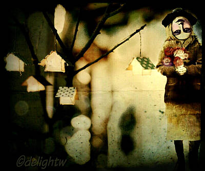 Poster featuring the digital art Some Days Are Like That by Delight Worthyn