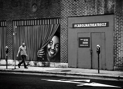 Somebody's Watching Me In Black And White Poster