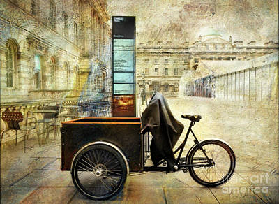 Poster featuring the photograph Somerset House Cart Bicycle by Craig J Satterlee