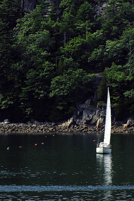 Somes Sound Sailing Poster