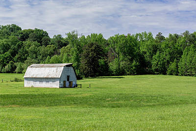 Barn In Green Pasture Poster