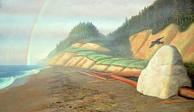 Poster featuring the painting Song For My Brother by Laurie Stewart