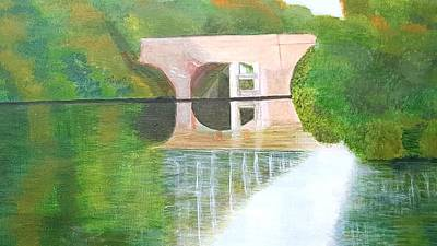 Sonning Bridge In Autumn Poster by Joanne Perkins