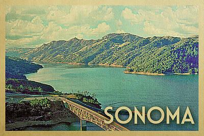 Sonoma Vintage Travel Poster Poster